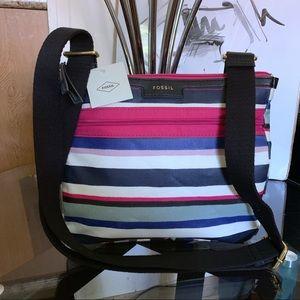 FOSSIL Eliza Crossbody Stripe Bag NWT